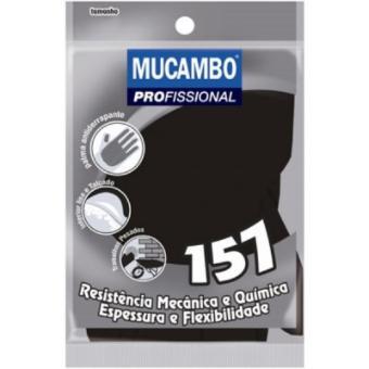 Luva Preta S-157 PRO Reforçada - Mucambo