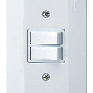 Interruptor Duplo 2 Teclas Paralelo com Placa Millenium Mectronic 21005