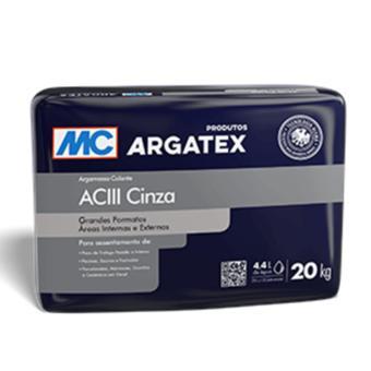 Argamassa AC-III interior e exterior Argatex cinza (saco 20kg)