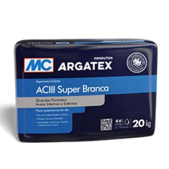 Argamassa AC-III interior e exterior Argatex super branca (saco 20kg)