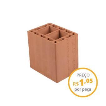 Bloco cerâmico estrutural 14x19x19cm 6,0MPa (peça)