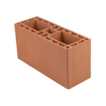 Bloco cerâmico estrutural, 14x19x39cm, 6,0 MPa (peça)