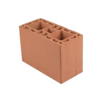 Bloco cerâmico estrutural, 19x19x29cm, 6,0 MPa (peça)