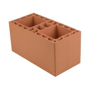 Bloco cerâmico estrutural, 19x19x39cm, 6,0 MPa (peça)