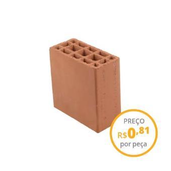 Bloco cerâmico estrutural 9x19x19cm 6,0MPa (peça)