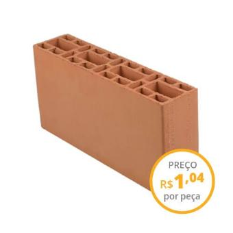 Bloco cerâmico estrutural 9x19x39cm 6,0MPa (carga 2.500 peças)