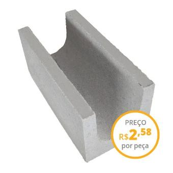 Canaleta de concreto 19x19x39cm vedação 4,5 MPa (peça)