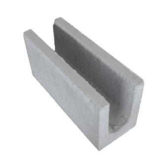 Canaleta de concreto vedação, 14x19x39cm (peça)