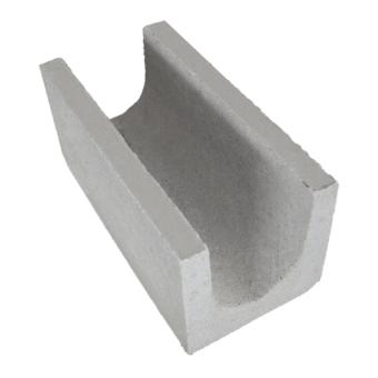 Canaleta de concreto vedação, 19x19x39cm (peça)