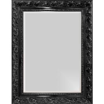 Espelho Decorativo com Bisotê Preto Retrô Plus Vários Tamanhos