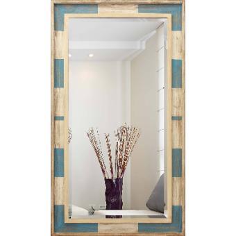 Espelho Rústico com Moldura Colorida e Bisotê Vários Tamanhos