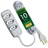 Extensão Elétrica Com 3 Pontos 10Mt - Ilumi