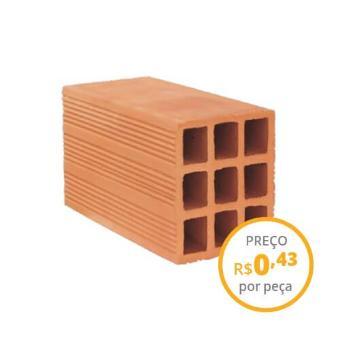 Tijolo cerâmico 11,5x14x24cm vedação (carga 500 peças)